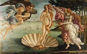 Geboorte van Venus, rond 1485, Uffizi-museum Florence