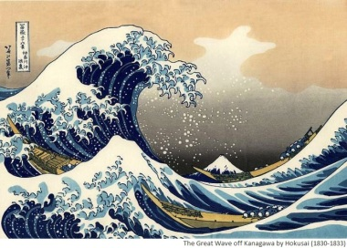 The Great Wave off Kanagawa by Hokusai (1830-1833)